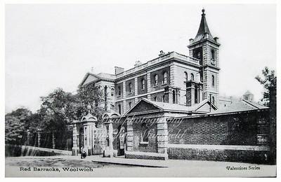 Early Postcard, red barracks