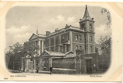 Old Postcard, Red Barracks