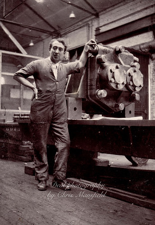 Royal Arsenal machine operator. approx' 1920s