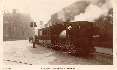 Old Postcard, Royal Arsenal Railway