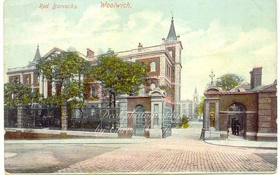 Old Postcard .. Red Barracks