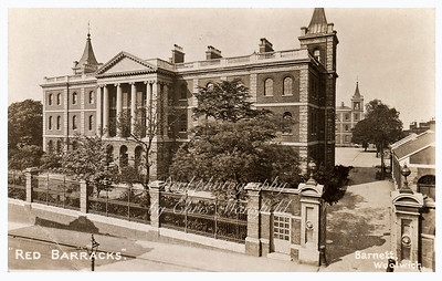 Early Postcard, Red Barracks.
