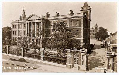 Early Postcard, Red Barracks.
