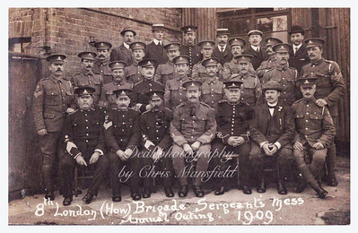 1909. 8th London Howitzer brigade .. Sergeants mess annual outing