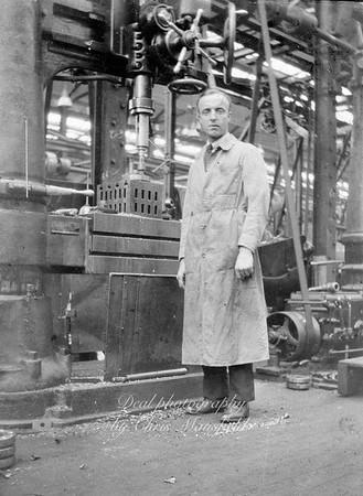 Royal Arsenal machine operator. approx' 1920s