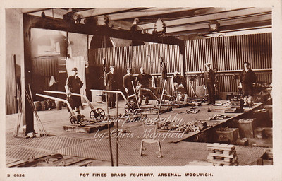 Old Postcard . Brass foundry