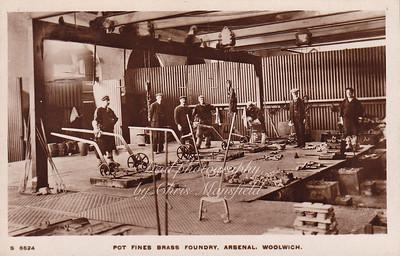 Old Postcard . Brass foundry