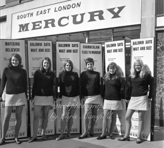 approx' mid 1970s.  Young ladies promoting the local paper in Thomas street