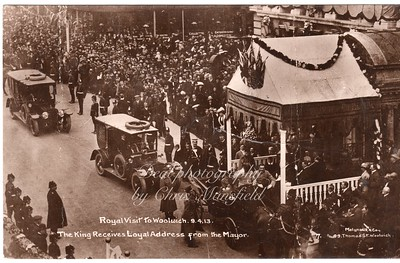 April 9th 1913 Royal visit by King George 5th and the queen