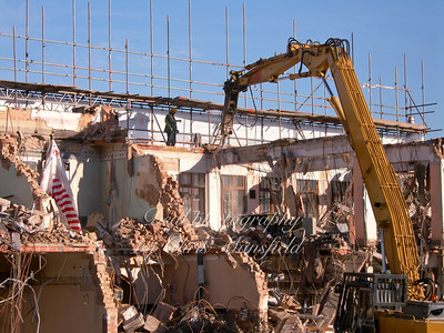 October 18th 2007.  Demolition of the old council offices in Wellington