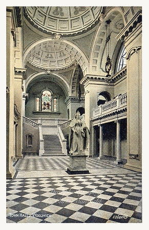 Early postcard, Woolwich town hall