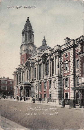 Early postcard.  Town hall