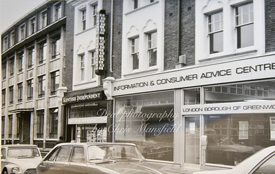 Wellington street, showing the old Kentish independent offices. Mid 1970s