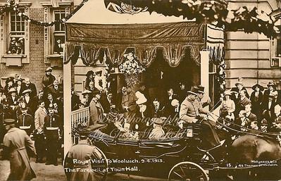 Royal visit , April 1913