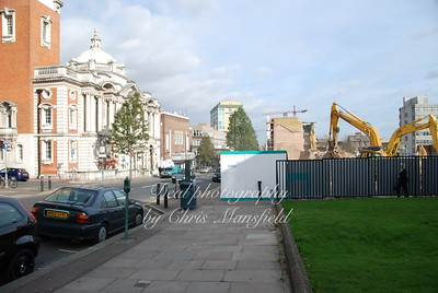November 8th 2007. Demolition of council offices and Director General Pub