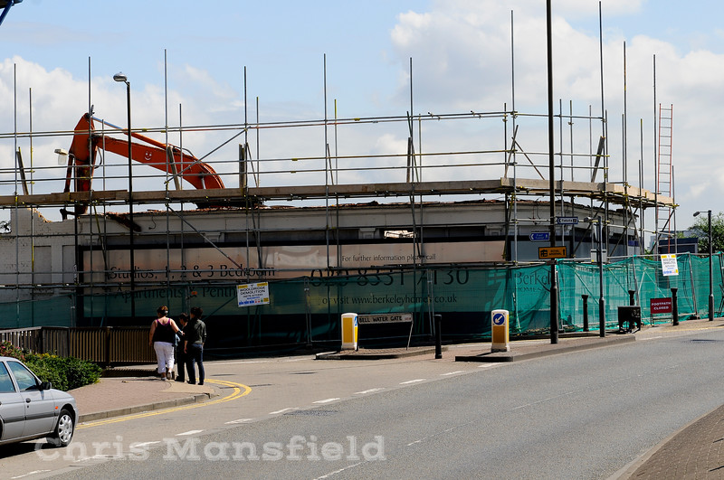 June 2008.   Crown & Cushion being demolished