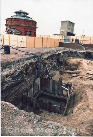 May 1986..  This is a shot of the early excavation work of the Waterfront leisure centre