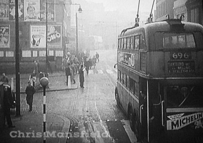 Approx' early 1950s ?....  Trolley bus on Woolwich high street