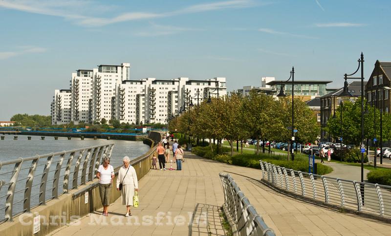 Sept' 3rd 2011.  Royal arsenal waterfront