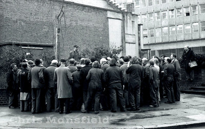 Early 1970s.. Impromptu union meeting
