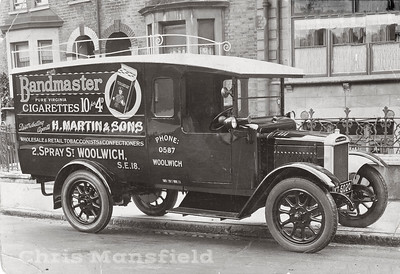 Approx, 1927 .  Delivery van belonging to H.Martin & Sons,  which is shown in the previous picture..