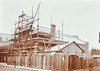 """Early 1900s.  The """"Tramshed""""  substation under construction"""