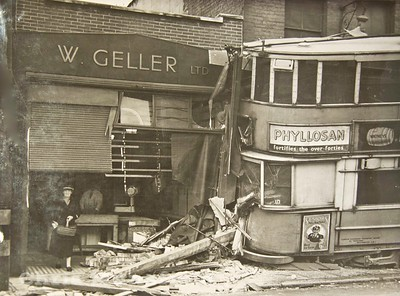 April 26th 1946.  Tram Crash on Woolwich new road