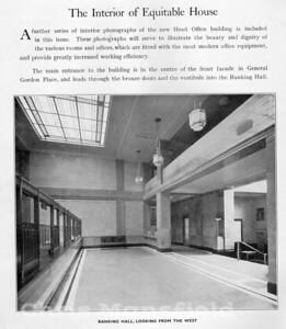 1935 .. Interior of Equitable house banking hall..