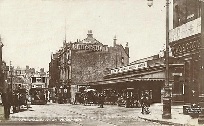 Early Postcard, Woolwich new road and arsenal station