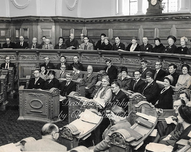 Woolwich council chamber ( about 1962 )  the young man, 2nd from the right was Cllr Terry malone