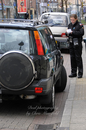April 17th 2009.. Traffic warden on Powis street