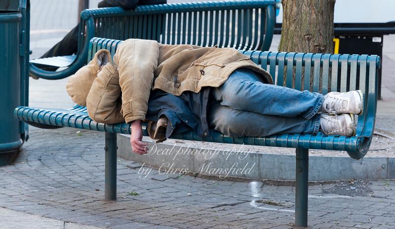 May 2011...  Rough sleeper on Powis street