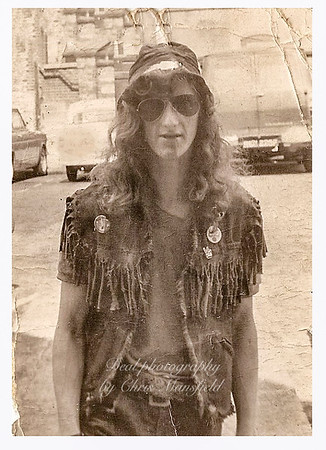 early 1970s.. local biker Chris Greene