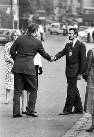 Late 1980s   Mayor John Austin-Walker with the duke and duchess of York