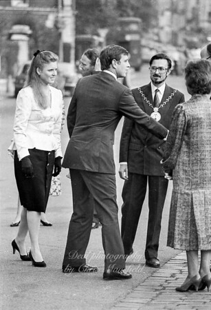 Late 1980s .  Mayor John Austin-Walker with the Duke and Duchess of York