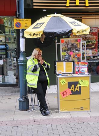 June 21st 2008.. AA lady outside McDonalds, Powis street