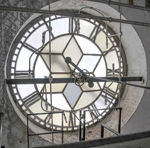 31st March 2008.  Inside the town hall clock