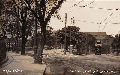 Early postcard, Mill lane