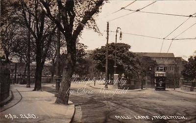 Early postcard, Mill lane