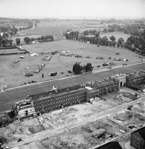 June 1963.  RA Barracks under renovation and also preparing for their annual RA at home event