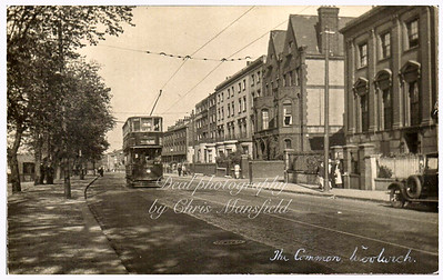 Early postcard,  Woolwich common road