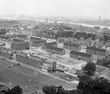 June 1963 RA Barracks .  showing RA Theatre partly demolished
