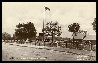 Early Postcard . Green Hill Battery