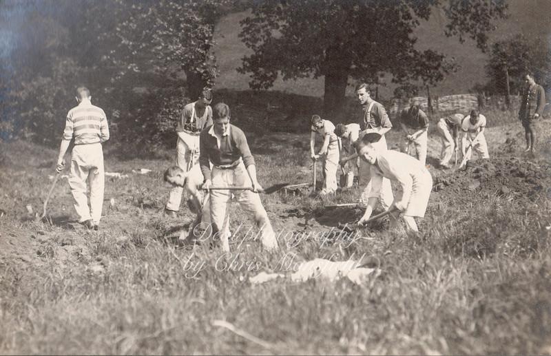 R A Cadets digging gun pits