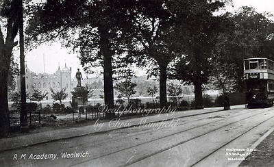 Early 1900s. Woolwich common road and Royal Militart Academy