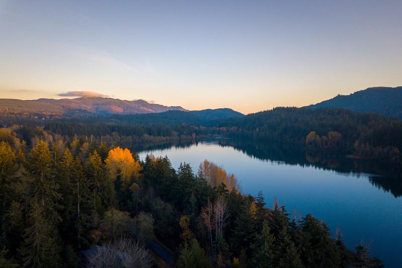 lake-padden-drone-sunset