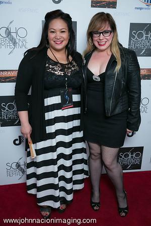 SIFF Programming Director Sibyl Santiago & Kirsten Vangsness attend SOHO International Film Festival Film 2015 at Village East Cinema on May 14, 2015 in New York City.