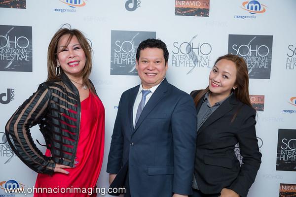 Corazon Rivera, Brix Palin & Debra Angeles  attend SOHO International Film Festival Film 2015 at Village East Cinema on May 14, 2015 in New York City.