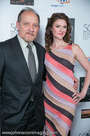 Actors Zach Grenier & Marisa Vitali  attend SOHO International Film Festival 2015 at Village East Cinema on May 14, 2015 in New York City.