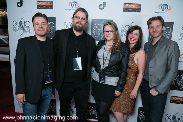 "Cast of ""Neonlichter"" attend SOHO International Film Festival Film 2015 at Village East Cinema on May 14, 2015 in New York City."